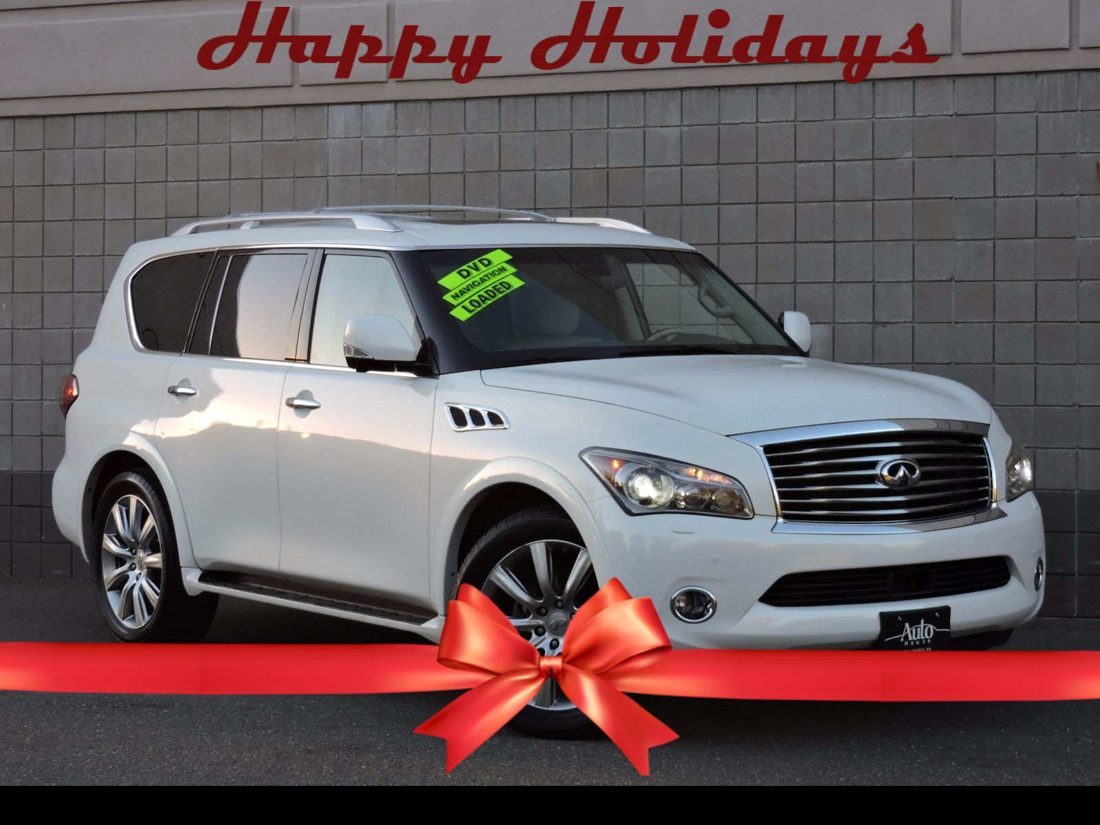 Used 2011 infiniti qx56 8 passenger at auto house usa saugus 2011 infiniti qx56 all wheel drive navigation dvd video entertainment vanachro Image collections